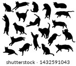 set vector silhouettes of the... | Shutterstock .eps vector #1432591043