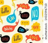 various speech bubbles with...   Shutterstock .eps vector #1432596710