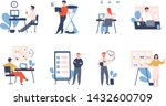collection of people... | Shutterstock .eps vector #1432600709