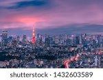 beautiful twilight scene of... | Shutterstock . vector #1432603589