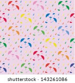 umbrellas and rain | Shutterstock .eps vector #143261086