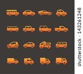 transport icons | Shutterstock .eps vector #143261248