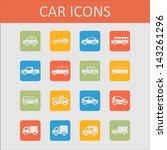 car icon collection | Shutterstock .eps vector #143261296