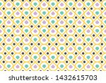 seamless pattern of colorful...   Shutterstock .eps vector #1432615703