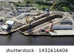 aerial view of a shipbuilder's... | Shutterstock . vector #1432616606