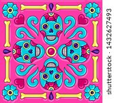 day of the dead mexican... | Shutterstock .eps vector #1432627493