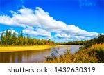 autumn forest river landscape... | Shutterstock . vector #1432630319
