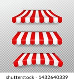 red and white sunshades for... | Shutterstock .eps vector #1432640339