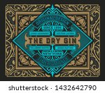 old label with floral frame | Shutterstock .eps vector #1432642790