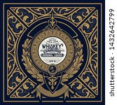 retro logo for whiskey or other ... | Shutterstock .eps vector #1432642799