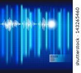 ecg electrocardiogram medical... | Shutterstock .eps vector #143265460