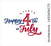 america happy 4th of july.... | Shutterstock .eps vector #1432656173