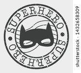 superhero stamp. mask... | Shutterstock .eps vector #1432658309
