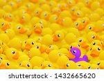 Unique Purple Toy Duck Among...
