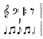 music notes  song  melody and... | Shutterstock .eps vector #1432666019