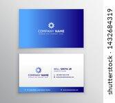 blue gradient business card... | Shutterstock .eps vector #1432684319