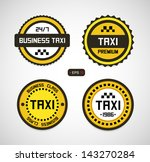 taxi signs | Shutterstock .eps vector #143270284