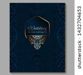 wedding invitation card with... | Shutterstock .eps vector #1432704653