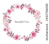 beautiful floral illustration... | Shutterstock . vector #1432706030