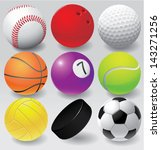 sport balls vector illustration ... | Shutterstock .eps vector #143271256