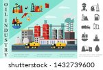 flat oil industry concept with... | Shutterstock .eps vector #1432739600
