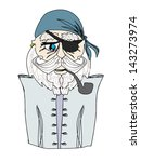 old pirate captain   doodle... | Shutterstock .eps vector #143273974