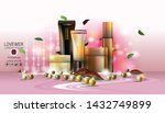 cosmetic design template.... | Shutterstock .eps vector #1432749899