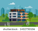 green urban environment... | Shutterstock .eps vector #1432750106