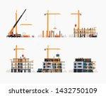 modern residential building... | Shutterstock .eps vector #1432750109