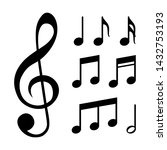 music notes  song  melody and... | Shutterstock .eps vector #1432753193
