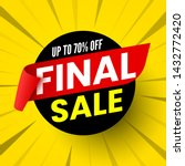 round final sale banner with... | Shutterstock .eps vector #1432772420
