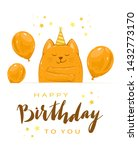 birthday greeting card in... | Shutterstock .eps vector #1432773170