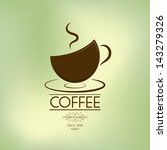 coffee background  olive theme  | Shutterstock .eps vector #143279326