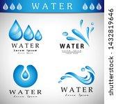 water splash vector and drop...   Shutterstock .eps vector #1432819646