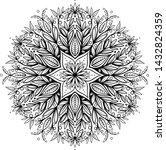 vector black and white mandala... | Shutterstock .eps vector #1432824359