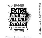 summer ad sale text in pop art... | Shutterstock .eps vector #1432826930