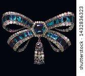 vector antique bow brooch... | Shutterstock .eps vector #1432836323