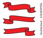 set of red ribbon vector banner ...   Shutterstock .eps vector #1432839956