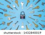 Keys Set With Funny Lock...