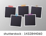 set of vintage photo frame with ... | Shutterstock .eps vector #1432844060
