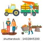 people working on farm vector ... | Shutterstock .eps vector #1432845200