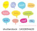 vector speech bubble colorful... | Shutterstock .eps vector #1432854620