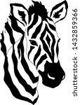 Zebra Head Zebra Print Wild...