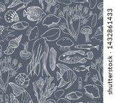underwater world  jellyfish ... | Shutterstock .eps vector #1432861433