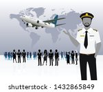 world business travel people... | Shutterstock .eps vector #1432865849