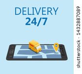 online delivery concept and... | Shutterstock .eps vector #1432887089