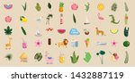 set of cute trendy summer icons ...   Shutterstock .eps vector #1432887119