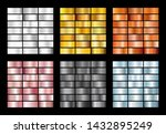 big collection of metall foil... | Shutterstock . vector #1432895249