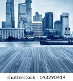 shanghai skyline with... | Shutterstock . vector #143290414