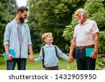 boy with father and grandfather ...   Shutterstock . vector #1432905950